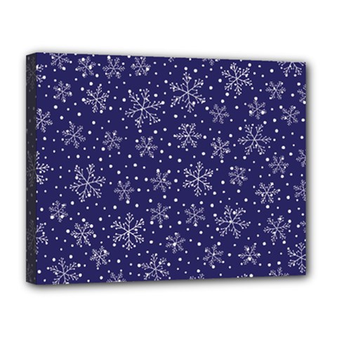 Snowflakes Pattern Canvas 14  X 11  by Onesevenart