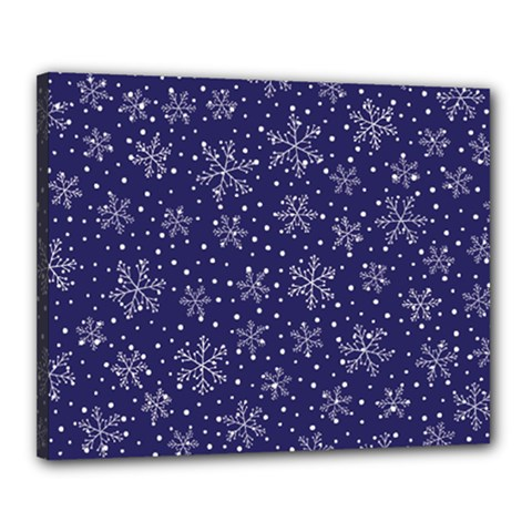 Snowflakes Pattern Canvas 20  X 16  by Onesevenart
