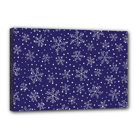Snowflakes Pattern Canvas 18  X 12  by Onesevenart