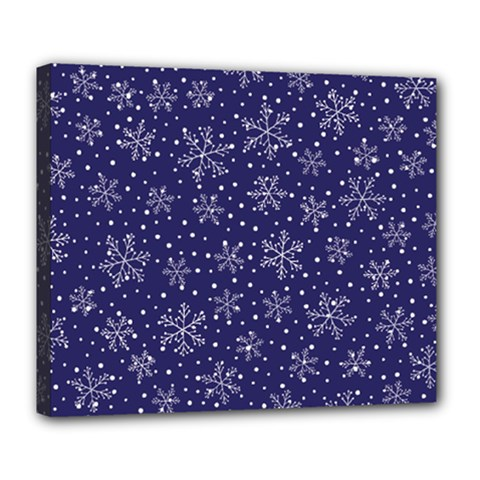 Snowflakes Pattern Deluxe Canvas 24  X 20   by Onesevenart