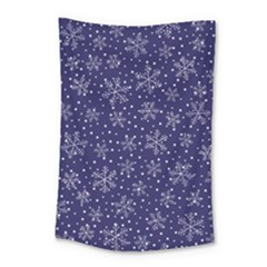 Snowflakes Pattern Small Tapestry by Onesevenart