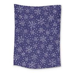 Snowflakes Pattern Medium Tapestry by Onesevenart