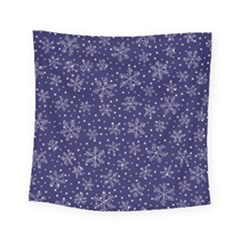 Snowflakes Pattern Square Tapestry (small) by Onesevenart