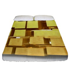 Gold Bars Feingold Bank Fitted Sheet (king Size) by Onesevenart