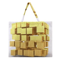 Gold Bars Feingold Bank Zipper Large Tote Bag by Onesevenart