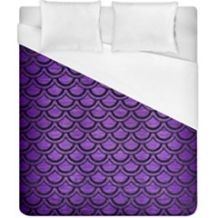 Scales2 Black Marble & Purple Brushed Metal Duvet Cover (california King Size) by trendistuff