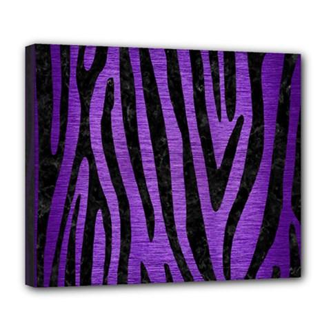 Skin4 Black Marble & Purple Brushed Metal (r) Deluxe Canvas 24  X 20   by trendistuff