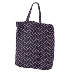 Brick2 Black Marble & Purple Colored Pencil (r) Giant Grocery Zipper Tote by trendistuff