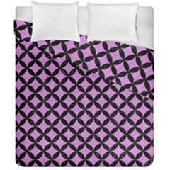 Circles3 Black Marble & Purple Colored Pencil Duvet Cover Double Side (california King Size) by trendistuff