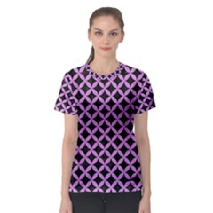 Circles3 Black Marble & Purple Colored Pencil (r) Women s Sport Mesh Tee by trendistuff