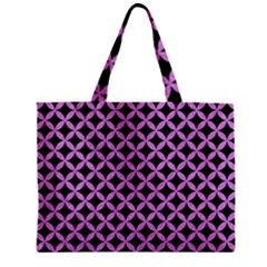 Circles3 Black Marble & Purple Colored Pencil (r) Zipper Mini Tote Bag by trendistuff