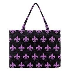 Royal1 Black Marble & Purple Colored Pencil Medium Tote Bag by trendistuff