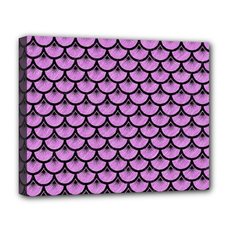 Scales3 Black Marble & Purple Colored Pencil Deluxe Canvas 20  X 16   by trendistuff