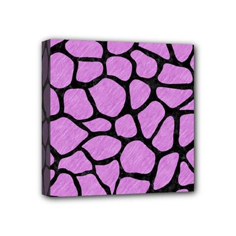 Skin1 Black Marble & Purple Colored Pencil (r) Mini Canvas 4  X 4  by trendistuff