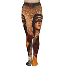Wonderful Fantasy Women With Mask Women s Tights by FantasyWorld7