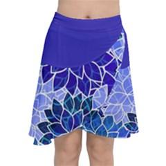Azurite Blue Flowers Chiffon Wrap by KirstenStar