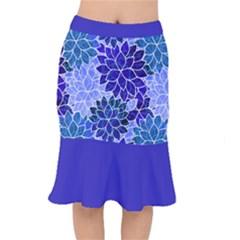 Azurite Blue Flowers Mermaid Skirt by KirstenStar