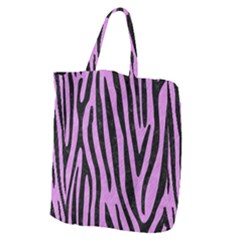 Skin4 Black Marble & Purple Colored Pencil (r) Giant Grocery Zipper Tote by trendistuff