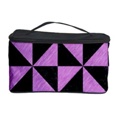 Triangle1 Black Marble & Purple Colored Pencil Cosmetic Storage Case by trendistuff