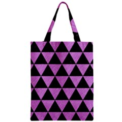 Triangle3 Black Marble & Purple Colored Pencil Zipper Classic Tote Bag by trendistuff