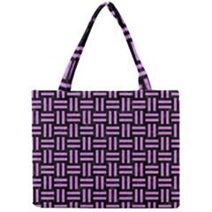 Woven1 Black Marble & Purple Colored Pencil (r) Mini Tote Bag by trendistuff