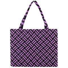 Woven2 Black Marble & Purple Colored Pencil (r) Mini Tote Bag by trendistuff