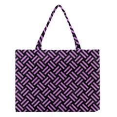 Woven2 Black Marble & Purple Colored Pencil (r) Medium Tote Bag by trendistuff