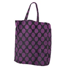 Circles2 Black Marble & Purple Leather (r) Giant Grocery Zipper Tote by trendistuff
