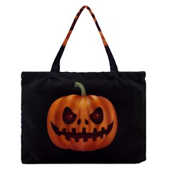 Halloween Pumpkin Zipper Medium Tote Bag by Valentinaart