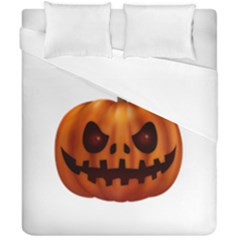Halloween Pumpkin Duvet Cover Double Side (california King Size) by Valentinaart