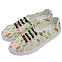 Christmas Tree Pattern Women s Classic Low Top Sneakers by Valentinaart