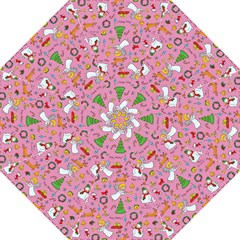 Christmas Pattern Hook Handle Umbrellas (large) by Valentinaart