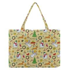 Christmas Pattern Zipper Medium Tote Bag by Valentinaart