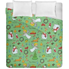 Christmas Pattern Duvet Cover Double Side (california King Size) by Valentinaart