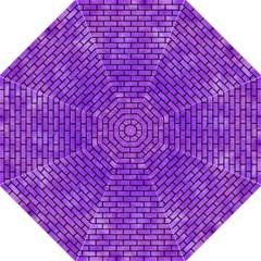Brick1 Black Marble & Purple Watercolor Hook Handle Umbrellas (large) by trendistuff