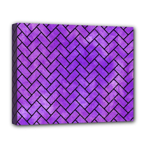 Brick2 Black Marble & Purple Watercolor Deluxe Canvas 20  X 16   by trendistuff
