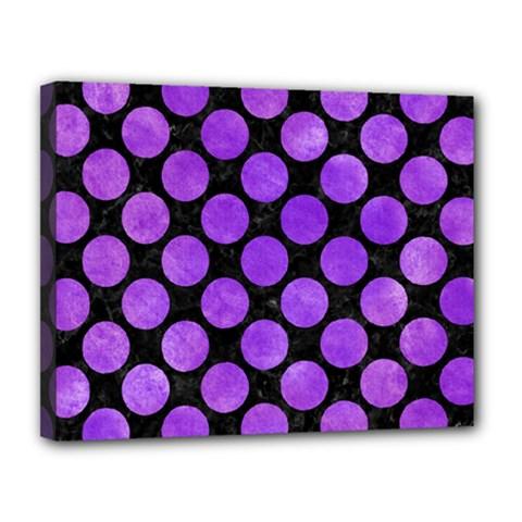 Circles2 Black Marble & Purple Watercolor (r) Canvas 14  X 11  by trendistuff
