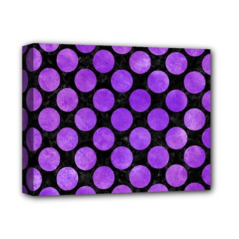 Circles2 Black Marble & Purple Watercolor (r) Deluxe Canvas 14  X 11  by trendistuff
