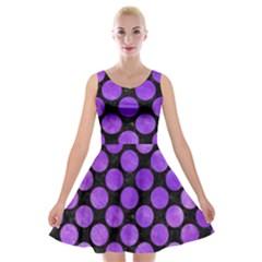 Circles2 Black Marble & Purple Watercolor (r) Velvet Skater Dress by trendistuff