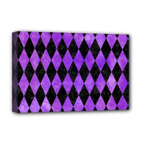 Diamond1 Black Marble & Purple Watercolor Deluxe Canvas 18  X 12   by trendistuff