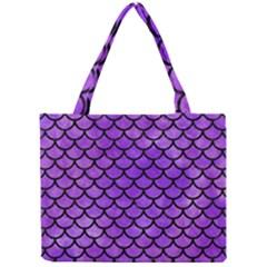Scales1 Black Marble & Purple Watercolor Mini Tote Bag by trendistuff