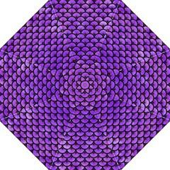 Scales3 Black Marble & Purple Watercolor Hook Handle Umbrellas (large) by trendistuff