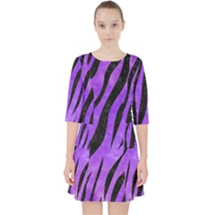 Skin3 Black Marble & Purple Watercolor Pocket Dress by trendistuff