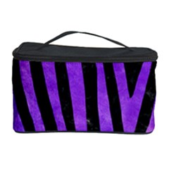Skin4 Black Marble & Purple Watercolor Cosmetic Storage Case by trendistuff