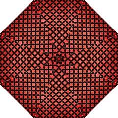 Circles3 Black Marble & Red Brushed Metal Straight Umbrellas by trendistuff