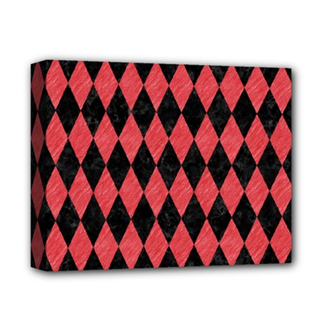 Diamond1 Black Marble & Red Colored Pencil Deluxe Canvas 14  X 11  by trendistuff