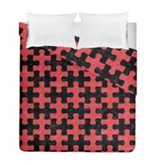 Puzzle1 Black Marble & Red Colored Pencil Duvet Cover Double Side (full/ Double Size) by trendistuff