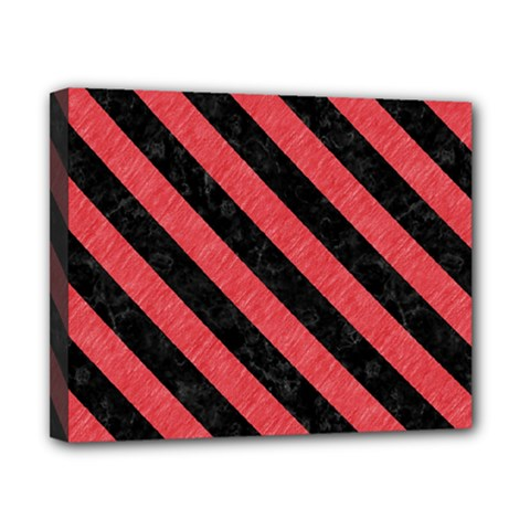 Stripes3 Black Marble & Red Colored Pencil Canvas 10  X 8  by trendistuff