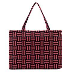 Woven1 Black Marble & Red Colored Pencil (r) Zipper Medium Tote Bag by trendistuff