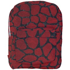 Skin1 Black Marble & Red Grunge (r) Full Print Backpack by trendistuff